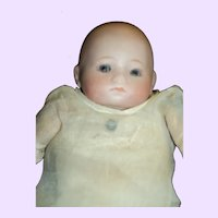 """ADORABLE German Bisque 8"""" baby doll Free P&I US Buyers"""