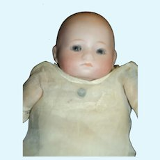"ADORABLE German Bisque 8"" baby doll Free P&I US Buyers"