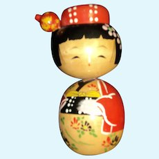 "7"" 1958 Kokeshi  Japanese doll signed HIJI"