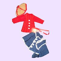 Two Wonderful Mary Hoyer Knit Doll outfits Free P&I US Buyers
