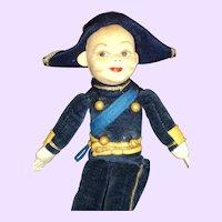 "9"" Unusual Norah Wellings Millitary doll Free P&I US Buyers"