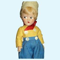 "9"" Wonderful Madame Alexander Wendy compo Dutch Doll Free P&I US Buyers"