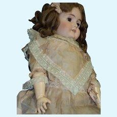 "Beautiful 26"" German Bisque doll Handwerck  Free P&I U S Buyers"