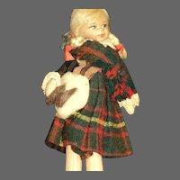 Old Cottage Scottish Lass doll Free P&I US Buyers