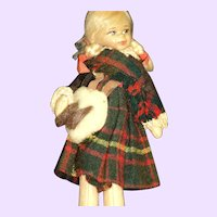 Old Cottage Scottish Lass doll Free P&I US Buyers