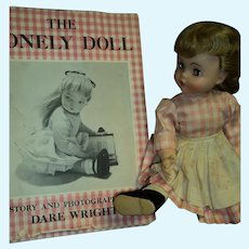 Madame Alexander Edith the Lonely Doll w/1st ED Dare Wright Book Free P&I US Buyers
