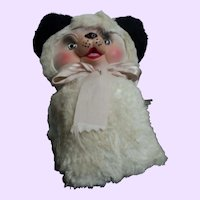 "Adorable Rubber Faced 12"" Panda Bear Free P&I US Buyers"