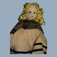 "12"" Madame Alexander Little Shaver doll for parts or restoration Free P&I US Buyer"