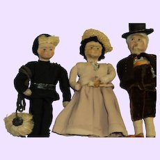 "3 Adorable Stockingknit 7"" Ravca Dolls Free P& I US buyers"