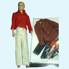 Flocked Hair Ken doll with an awesome Hunting outfit