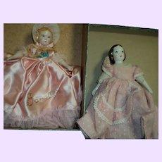 2 Remarkable Ruth Gibbs China dolls Free P&I US buyers