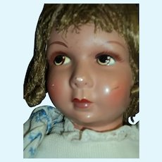 "Beautiful 17""  French Raynal  doll Free P&I US Buyers:"