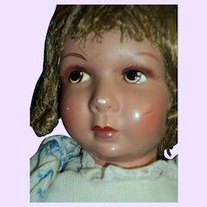 "Beautiful 17""  French Raynal  doll Free P&I US Buyers:"