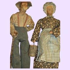 "12"" Pr Wood Oazark dolls Free P&I US Buyers"