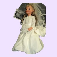 "Beautiful 17"" Furga Italian Alta Moda Bride Doll Free P&I US Buyers"