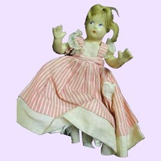 """7"""" Compo Madame Alexander Little Women Beth doll Free P&I US Buyers"""