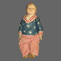 """Rare 1917 Uncle Sam's  son 14 """" doll Free P&I US Buyers"""