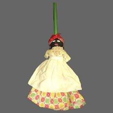 Unusual Broom Stick Cloth  Doll Free P&I US Buyers