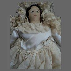 "13"" Cloth Bride Doll & three dress trouseau Free P&I US Buyers"
