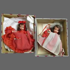 Two Nancy Ann #157 Queen of Hearts dolls Free P&I US Buyers