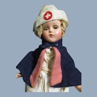 """14"""" R&B compo Nurse doll Skating to work  2 outfits Free P&I US Buyers"""