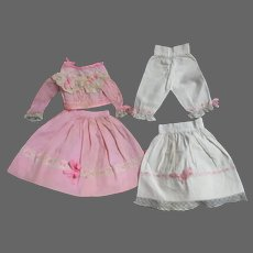 Awesome 4 Piece outfit for China or bisque doll Free P&I US Buyers