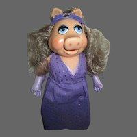 Fisher Price Miss Piggy Doll w/box free p&i US Buyers