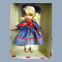 #109 Little Betty Blue NASB doll w/ box/wt Free P&I US Buyers