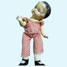 """Very Cute 40's 12"""" Compo Doll Free P&I US BUYERS!"""