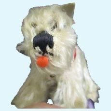 """Tiny 4"""" Steiff Tessie Schnauzer Dog Free P&I US Buyers"""