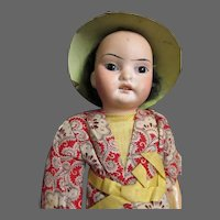 """8"""" Rare Asian Bisque doll  Free P&I US Buyers"""