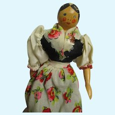 """8"""" Grodnertal Wooden Doll Free P&I US Buyers"""