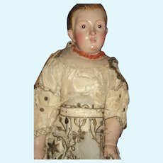 """18"""" Rare Compo/cloth    Religious Doll or Figure Free P&I US Buyers"""