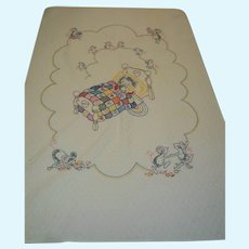 Sweet Cat and Mouse Crib Quilt for Doll Baby or wall hanging Free P& I US Buyers