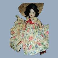 "Beautiful   Madame Alexander 14"" Compo Scarlett doll Free P&I US Buyers"