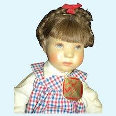 "10"" Kathe Kruse doll w/tag free P&I US Buyers"