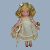 #132 When She Was JL Good Nancy Ann Story Book Doll Free P&I US Buyers