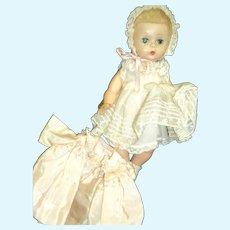 Beautiful Madame Alexander Baby Genius doll w/coat Free P&I US Buyers