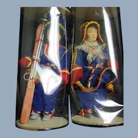 Two  dolls Made in Finland skier Free P&I US Buyers
