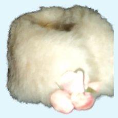 Tiny Vintage faux fur stole for Madame Alexander Cissette doll Free P&I US Buyers