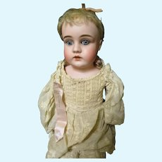 Lovely 18' German Bisque Doll Ribbon Winner Provenance Free P&I US Buyers