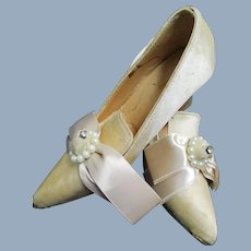 Tiny Satin Shoes for Boudoir or Bisque doll Free P&I US Buyers