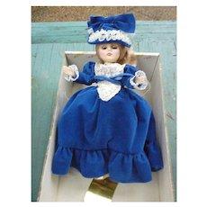 Effanbee Grandes Dames 1151 Elizabeth 11 inch Doll MIB Vintage 1980s