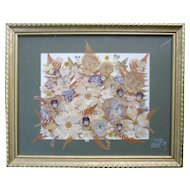 Pressed Dry Spring Flowers Art Framed The Artist & The Gardener
