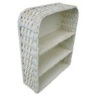 White Wicker Wall Shelf