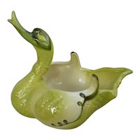 Vintage Hull Art Pottery Green Ceramic Swan #69 Planter Vase Bowl