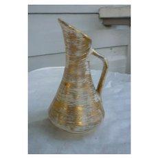 Gold Glaze Stangl Pitcher Vintage 1950s