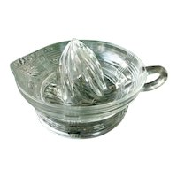 Hazel Atlas Clear Crisscross Depression Glass Reamer