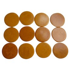 Butterscotch Swirl Bakelite Poker Chips Set