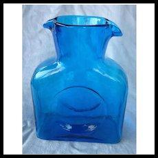 Blenko Blue Water Bottle 384